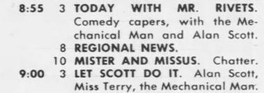 1955-06-12 Philadelphia Inquirer TV-5 Alan Scott Mr. Rivets