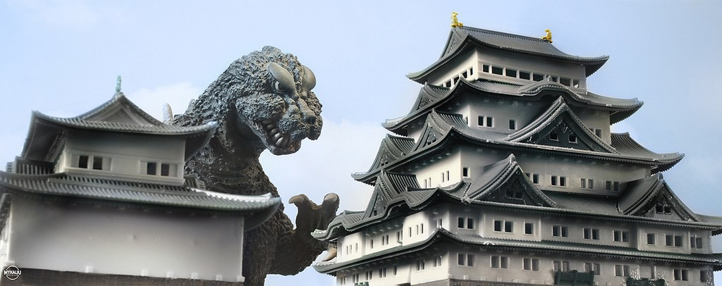 godzilla-model-over-castle