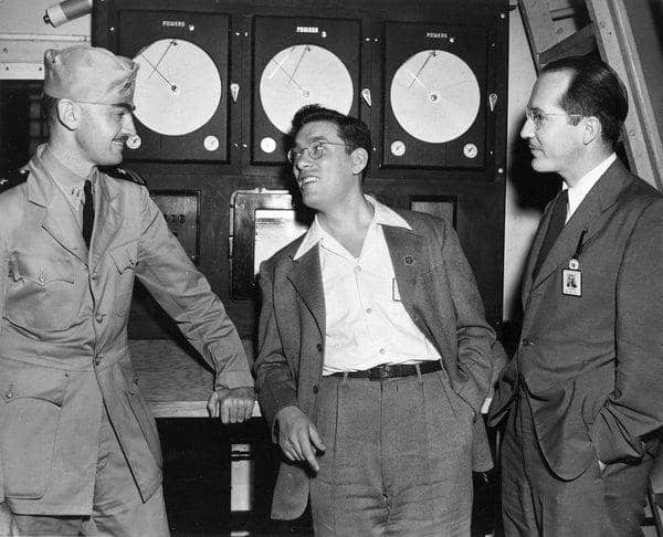(4) L. Sprague DeCamp, Isaac Asimov, and Robert A. Heinlein