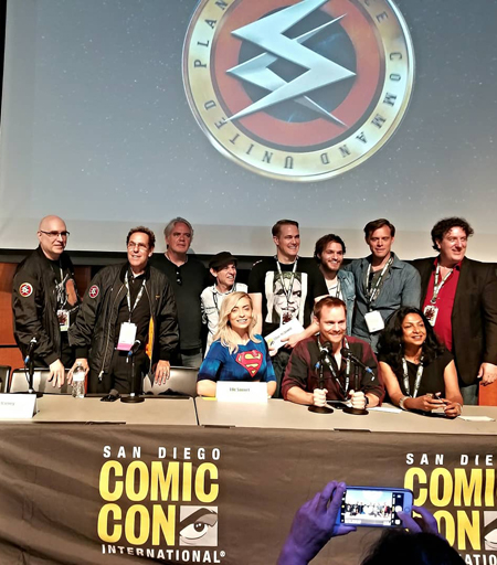 Some of the cast and crew at San Diego Comicon