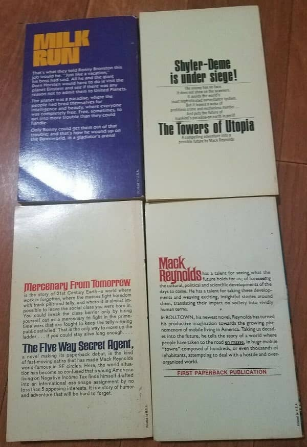 Four vintage paperbacks by Mack Reynolds-back-small