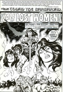 John Buscema's splash page for Marvel's Conan the Barbarian # 104