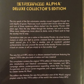 Metamorphosis Alpha reprint-back