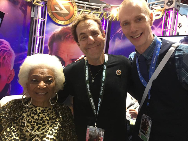 Nichelle Nichols (left), Marc Zicree (middle), Doug Jones (right)