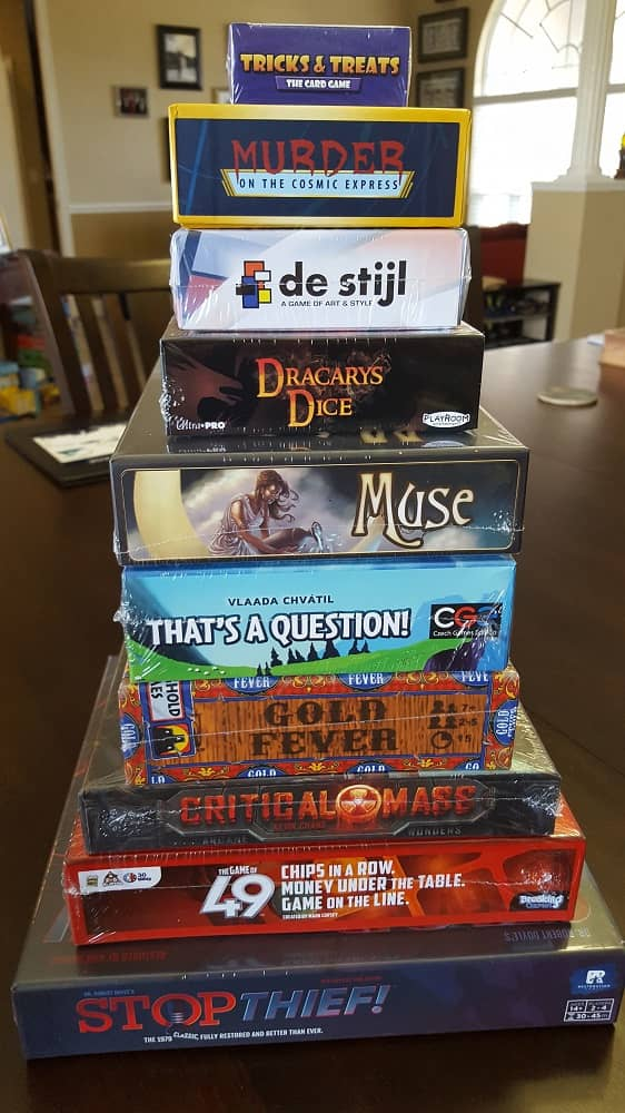 The Dice Tower Cruise swag bag-small