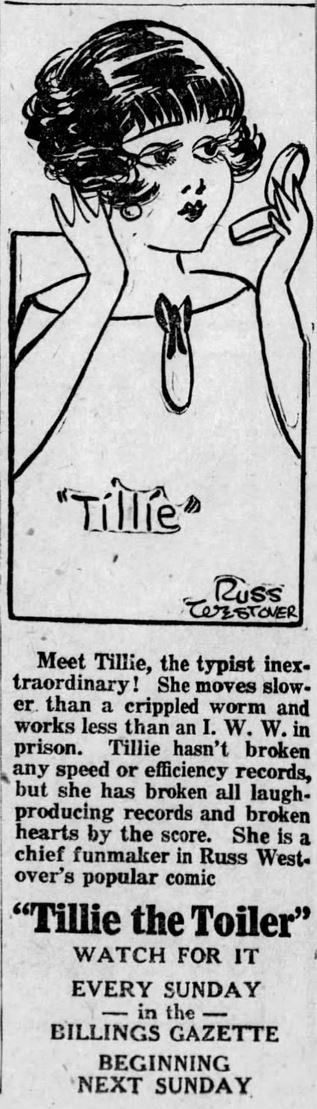 1925-03-10 Billings Gazette 4 tillie the toiler promo