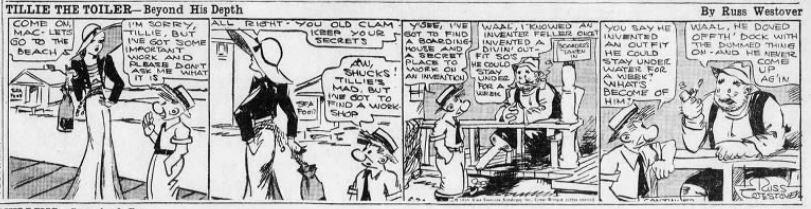 1933-06-20 Akron Beacon Journal 27 Tillie the Toiler robot cartoon