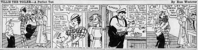 1933-07-04 Akron Beacon Journal 21 Tillie the Toiler robot cartoon
