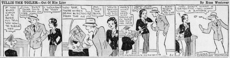 1933-08-11 Akron Beacon Journal 35 Tillie the Toiler robot cartoon