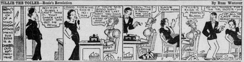 1933-09-11 Akron Beacon Journal 21 Tillie the Toiler robot cartoon