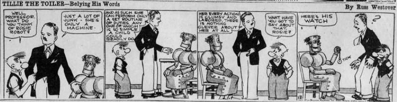 1933-09-18 Akron Beacon Journal 21 Tillie the Toiler robot cartoon