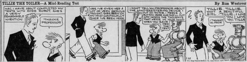 1933-09-29 Akron Beacon Journal 39 Tillie the Toiler robot cartoon
