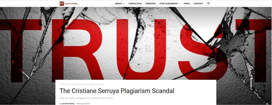 Cristiane Serruya Plagiarism Scandal