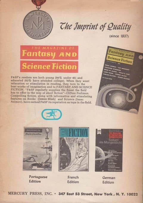 Fantasy and Science Fiction November 1972-back-small