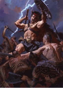 Gregory Manchess for Del Rey's 'The Conquering Sword of Conan'