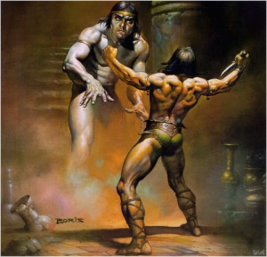 Boris Vallejo for 'Conan the Wanderer'