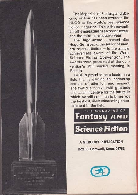 Magazine of Fantasy and Science Fiction February 1972-back-small