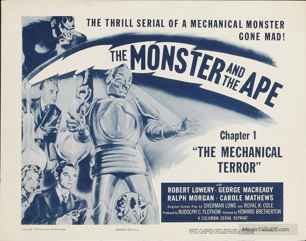 The Monster and the Ape lobby card ch.1