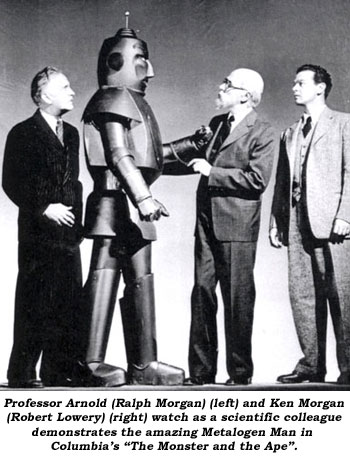 The Monster and the Ape promotional still with Prof. Ernst, Prof. Franklin, and Ken