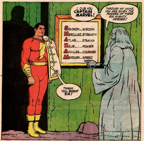 (4) Captain Marvel and Shazam