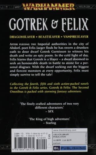 Gotrek & Felix The Second Omnibus first print-back-small