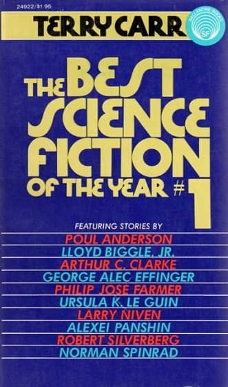 Terry Carr Best Science Fiction of the Year 1 reprint-small