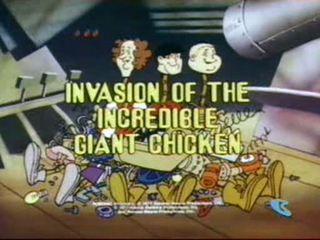 The robonic stooges espisode 1 title cel Invasion of the Incredible Giant Chicken