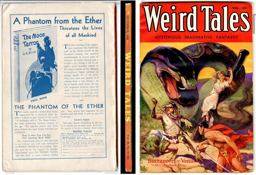 Windy City Pulp and Paper auction Weird Tales December 1932-small