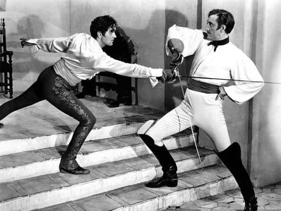(2) Rathbone and Power in The Mark of Zorro
