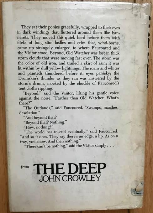The Deep John Crowley Doubleday-back-small