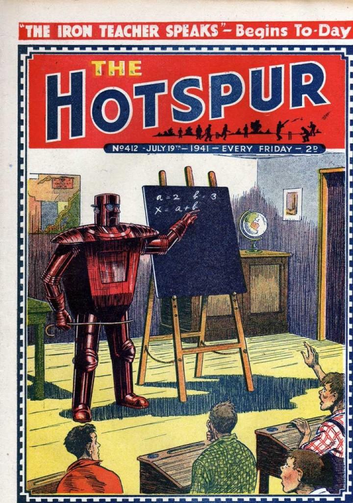 The Hotspur #412, July 19, 1941, The Iron Teacher cover