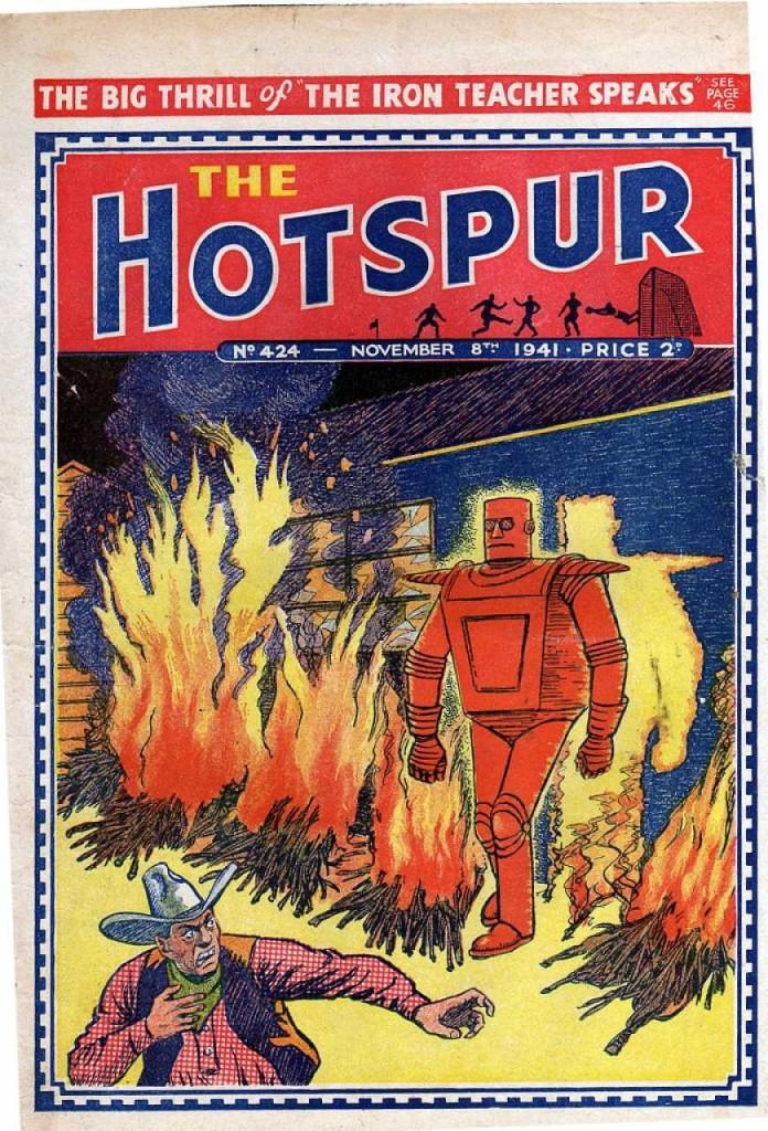 The Hotspur #424, Nov. 8, 1941, The Iron Teacher cover