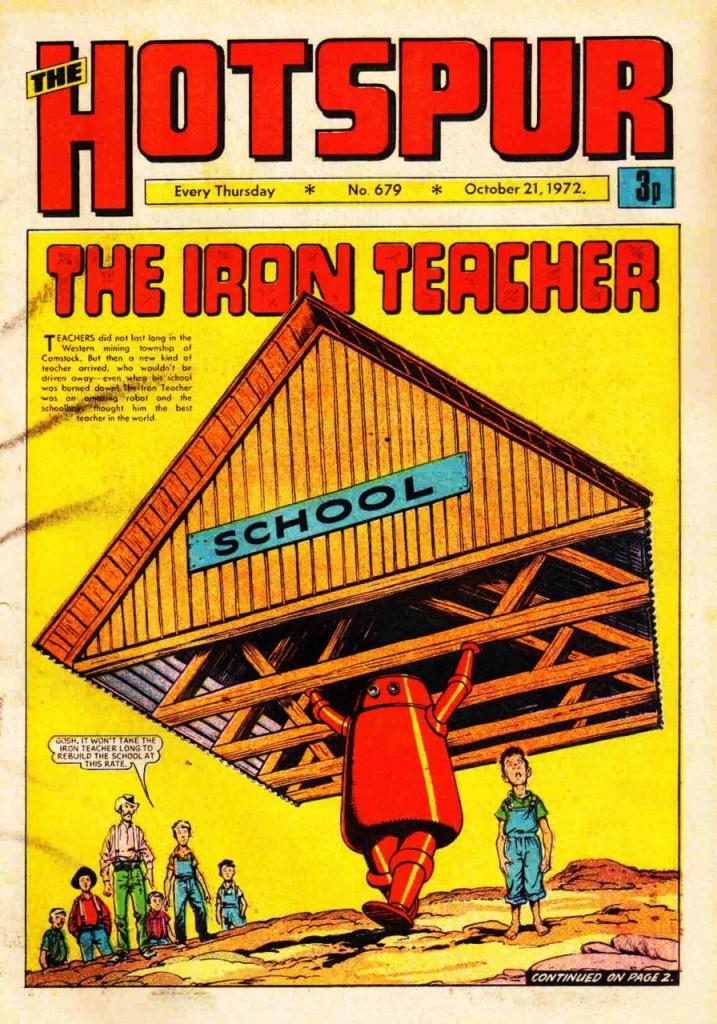 The Hotspur #679, Oct. 21, 1972, new Iron Teacher cover