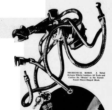 1937-10-17 San Francisco Examiner [American Weekly 3] A Whole World of Metal Men, Robot octopus - Copy
