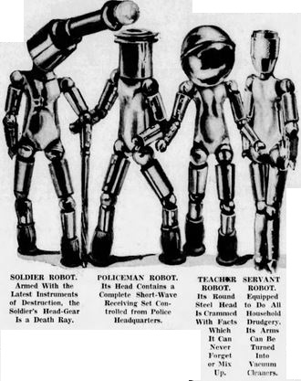 1937-10-17 San Francisco Examiner [American Weekly 3] A Whole World of Metal Men, Robot types - Copy