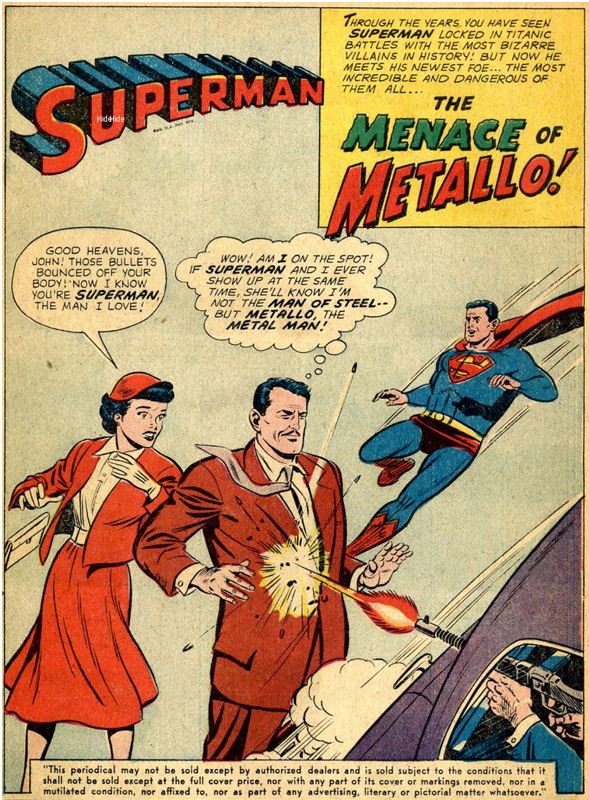 ActionComics #252, May 1959 Metallo