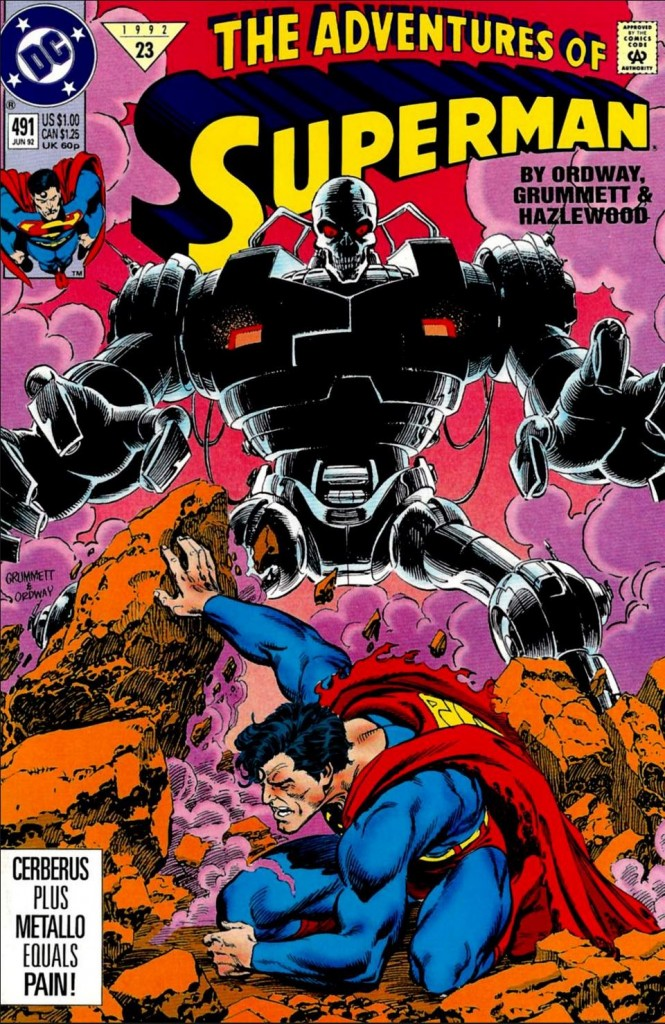 Adventures of Superman #491, June 1992 Metallo
