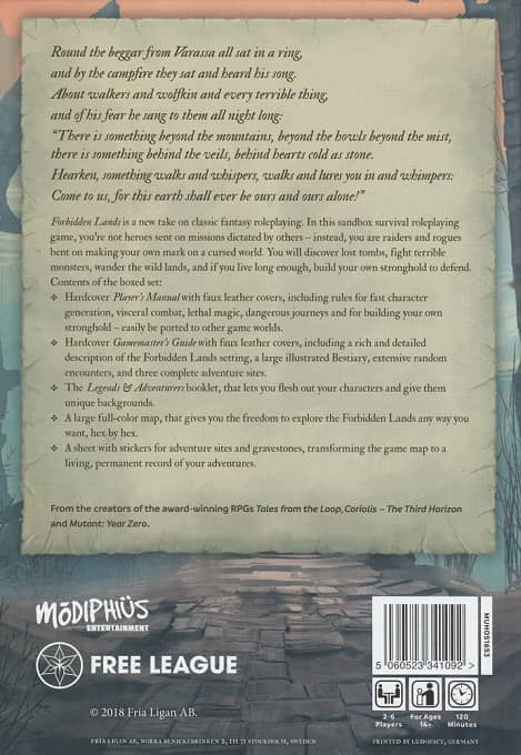 Forbidden Lands Modiphius -back-small