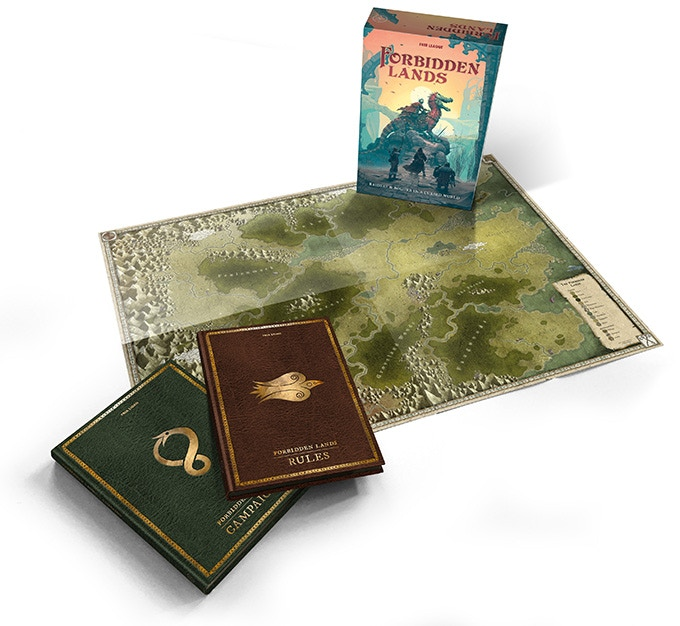 Forbidden Lands Modiphius map