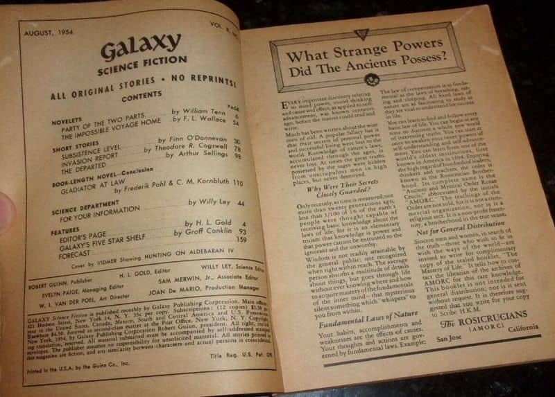 Galaxy August 1954-contents-small