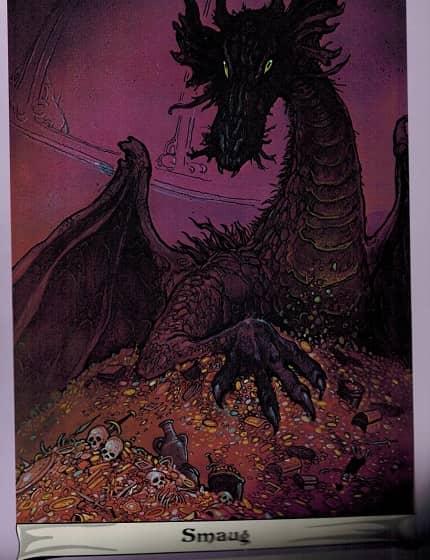 J.R.R. Tolkien Calendar 1975 Tim Kirk Smaug-small
