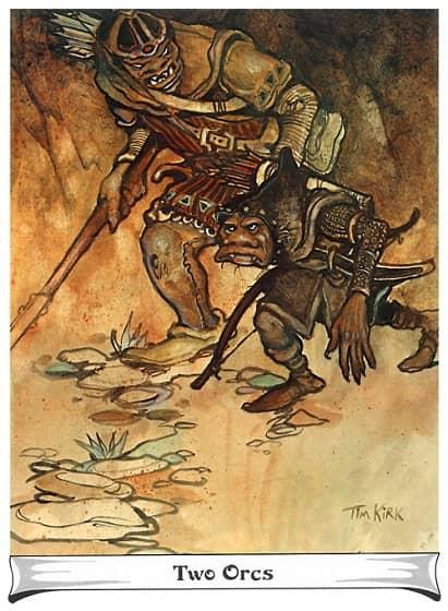 J.R.R. Tolkien Calendar 1975 Tim Kirk Two Orcs-small