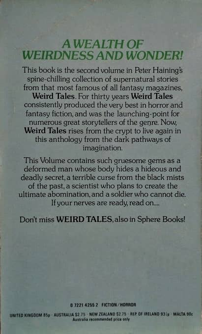 More Weird Tales Peter Haining-back-small