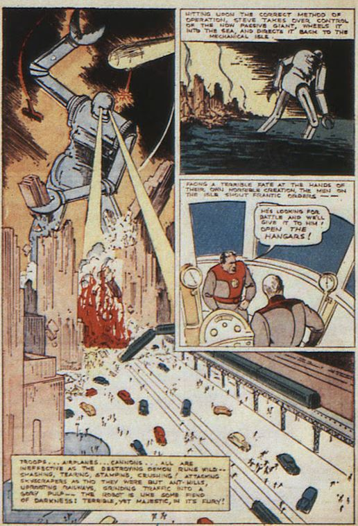 New Comics #10, November 1936, Federal Men, art by Joe Shuster