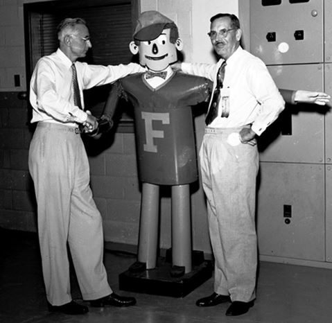 Otto 1953, with UF Dean and President