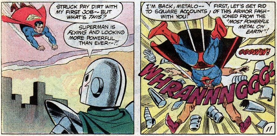 Superman Family 217, April 1982, p11 Golden Age Metallo