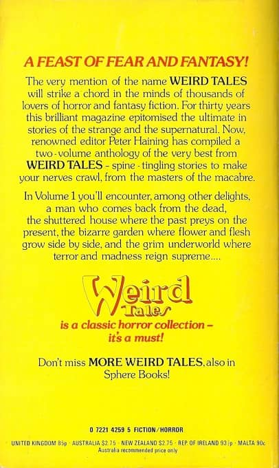 Weird Tales Peter Haining-back-small