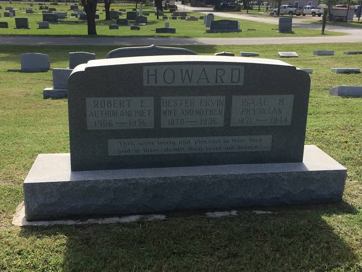 Howard Days 2019 Robert E Howard grave stone-small
