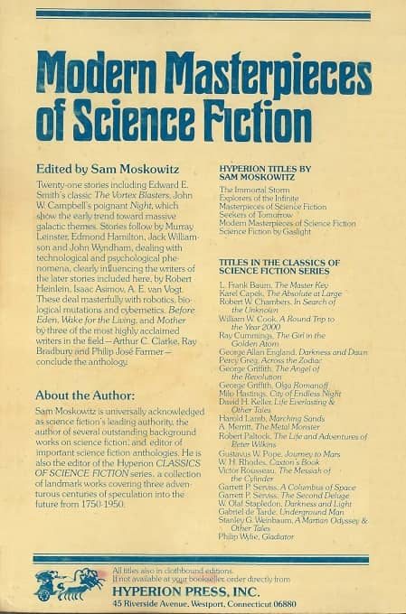 Modern Masterpieces of Science Fiction-back-small