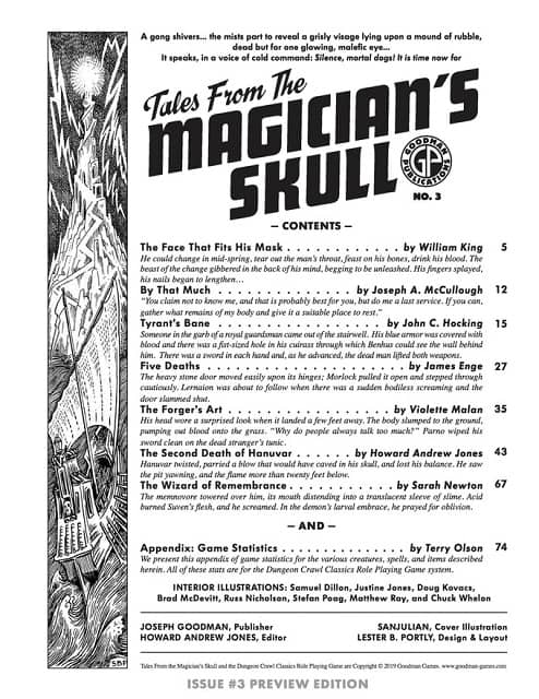 Tales From the Magician's Skull 3 contents-small
